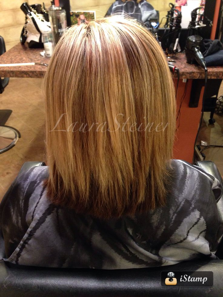 Mid Length Haircut With Blended Layers Highlights And