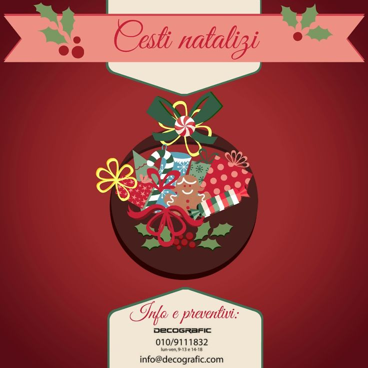 Cosa c'è dentro i nostri cesti natalizi? 1 o più gadget personalizzati con la stampa del tuo logo, prodotti artigianali, vino e quel che vuoi tu! Info e preventivi: www.decografic.com/gadget-promozionali #regaliaziendali #Natale #Natale2014 #ideeregalo #gadget