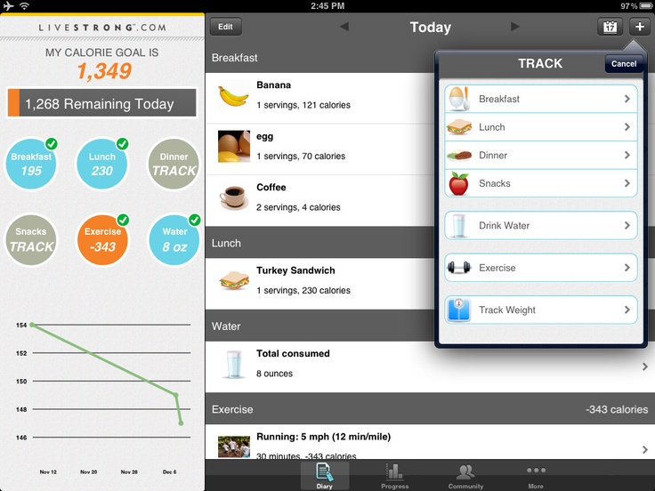 My Plate Calorie Tracking: Amazing how calorie awareness cuts down on snacking!