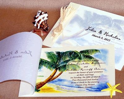 Cheap Tropical Wedding Invitation Designs Uk   The Wedding Specialists