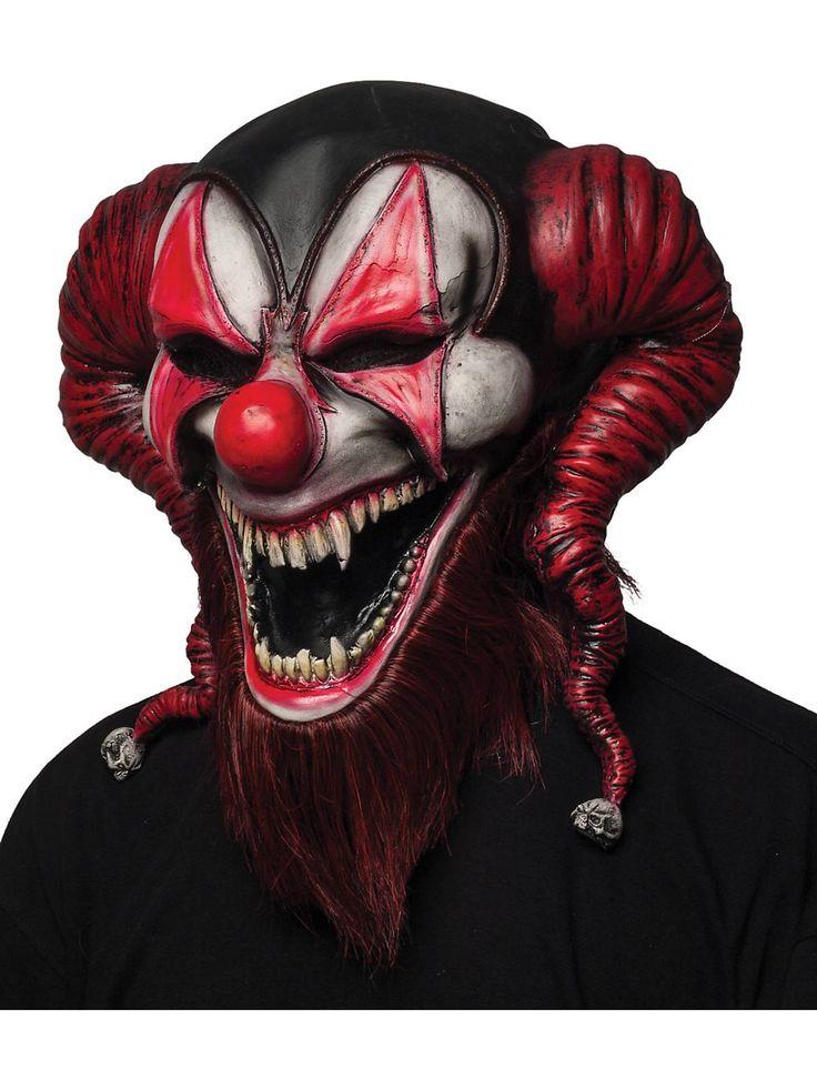 bearded red jester mask horror masks at frightcatalogcom - Premium Halloween Masks
