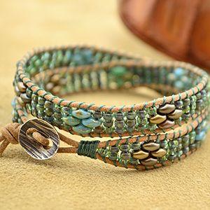 Free Superduo Wrap Bracelet Project Tutorial | Seashore | Beadshop.com