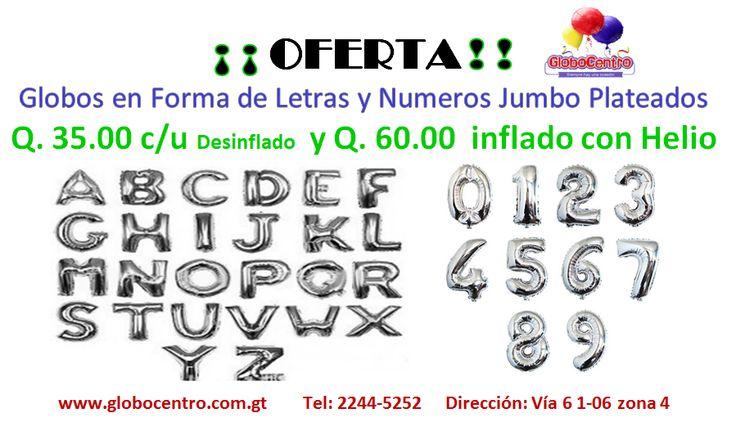 """Globos metalizados en forma de #Letras y #Numeros 36 Plata"""" #Bendecido #Miercoles!!!"""