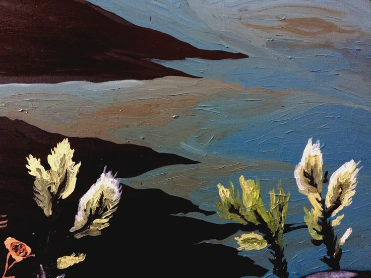 flora de fantasía II (detail) óleo sobre madera  #art #juanasubercaseaux