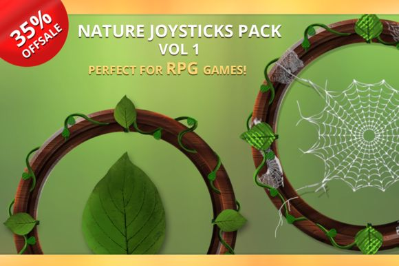 Nature Joysticks Pack Vol 1 by Creativer Studio on Creative Market