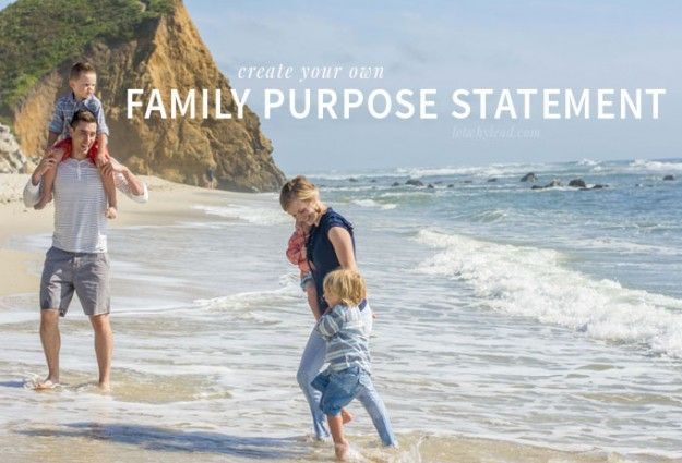 Build Family Identity with a Family Purpose Statement | A great goal for 2015. Why you might want to—and some tips for when you do!