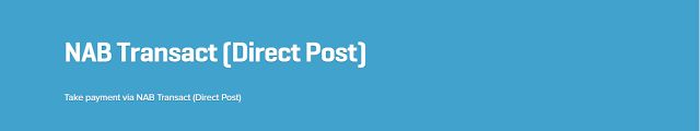 WooCommerce plugins: WooCommerce NAB Transact Direct Post 1.4.4 Extensi...