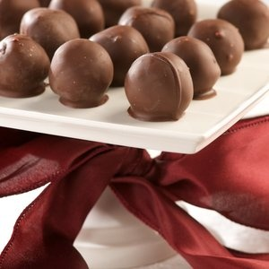 Chocolate orange truffles. - truffles are actually super easy to make. I remember making them in cooking class sophomore year of high school.