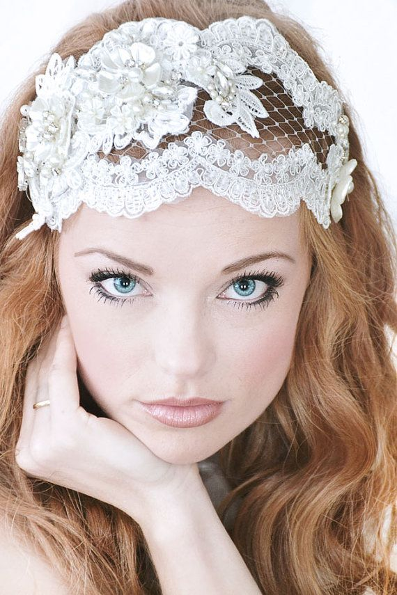 My Sweet Carina bridal cap by SoBridelicious, $140.00