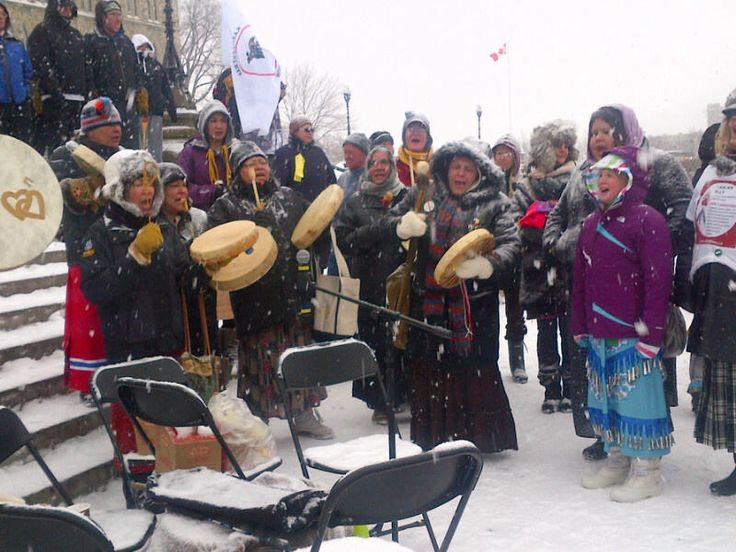 Twitter / AFN_Updates: Unity song at #IdleNoMore event ...
