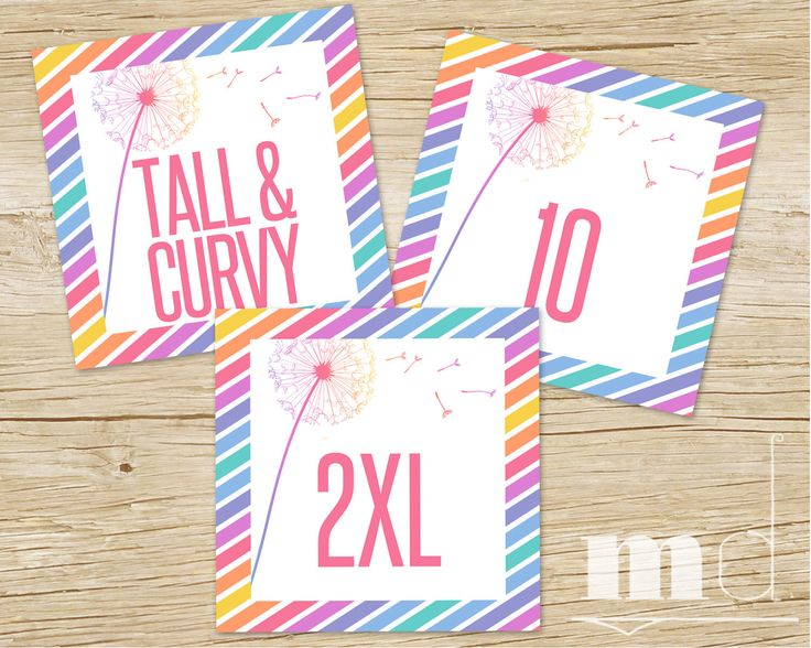 Sizing Cards, HO Approved, Size Card 5x5, llr Consultant Facebook Album Cover, Dandelion Rainbow Stripe Design, Online Tags PRINTABLE by MulliganDesign on Etsy https://www.etsy.com/listing/472596424/sizing-cards-ho-approved-size-card-5x5