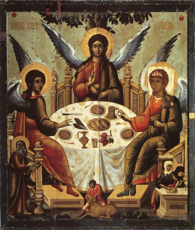 Trinity by unknown artist, the 14th century, Moscow Kremlin