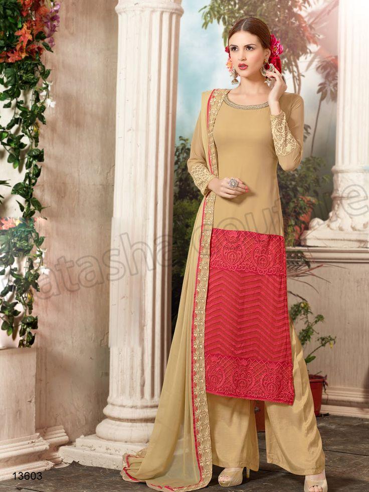 #Designer Stright Suits#Pakistani Suit#Indian Wear#Beige #Desi Fashion #Natasha Couture#Indian Ethnic Wear# Salwar Kameez#Indian Suit#Pakastani Suits# Palazoo