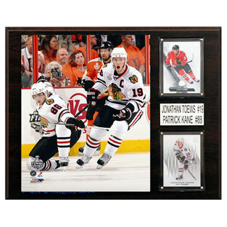 C and I Collectables NHL 15W x 12H in. Patrick Kane - Jonathan Toews Chicago Blackhawks Player Plaque - 1215KANETOEW