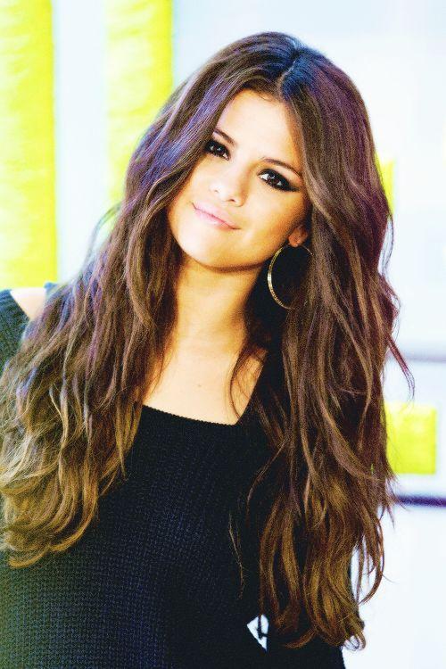 Selena Gomez naturally gorgeous  hair