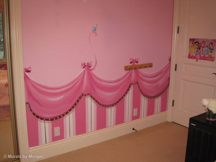 Gorgeous Princess Fairy Tale Pink Painting For Girls Room Part 75