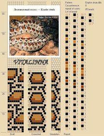 Free Crochet Bead Pattern Round 8 snake