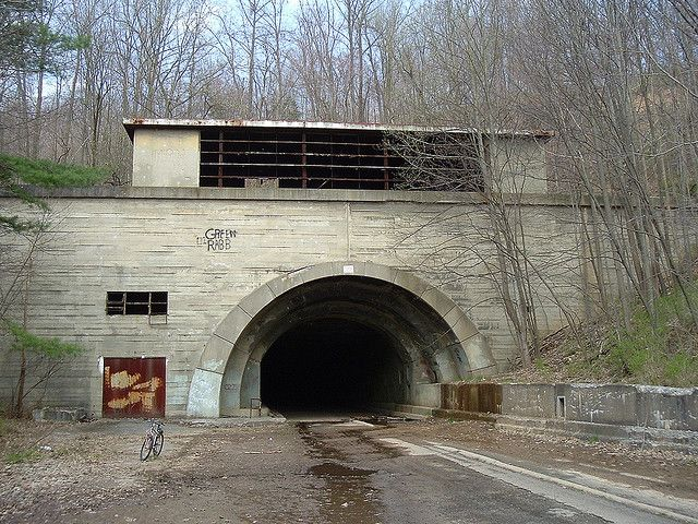 """Abandoned PA turnpike-There are a total of three tunnels no longer used by the PA Turnpike authority-Laurel Hill, Ray's Hill and Sideling Hill. Laurel Hill is a race car testing facility, but the other two are left as part of a trail. The movie """"The Road"""" uses Sideling Hill tunnel. Sideling Hill tunnel is not far from the rest stop on the current PA Turnpike."""