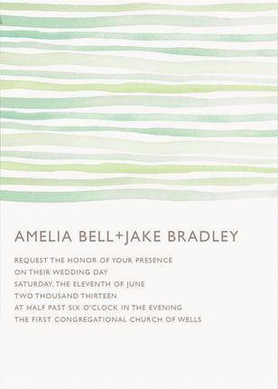 REVEL: Mint Watercolor Wedding Invitations