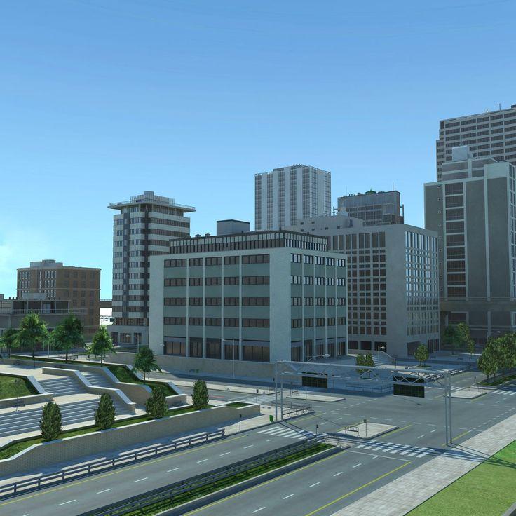 3D MODEL: https://www.turbosquid.com/3d-models/3d-city-cityscape/779815?referral=cermaka