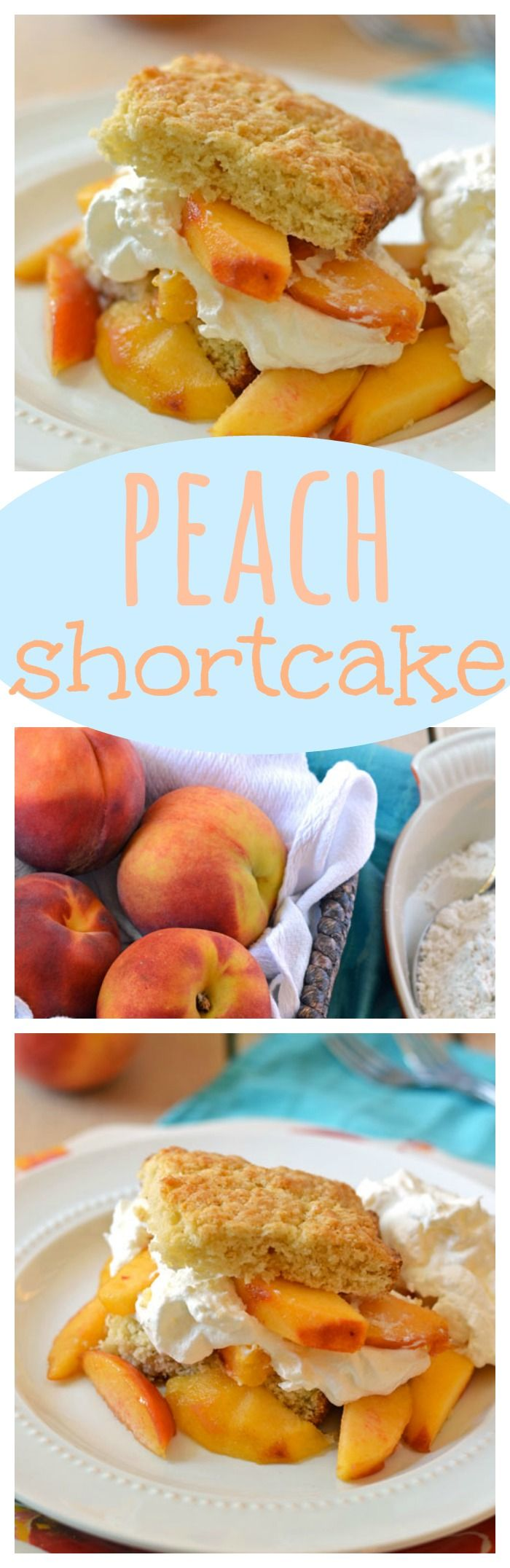 Peach Shortcake. Summer doesn't get any better than this buttery shortcake with fresh peaches and real whipped cream!