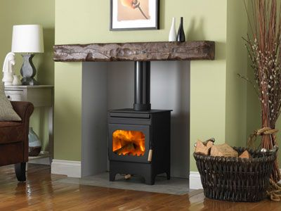 Burley 9104 Debdale with Cover Plate Wood Burning Stove 4KW