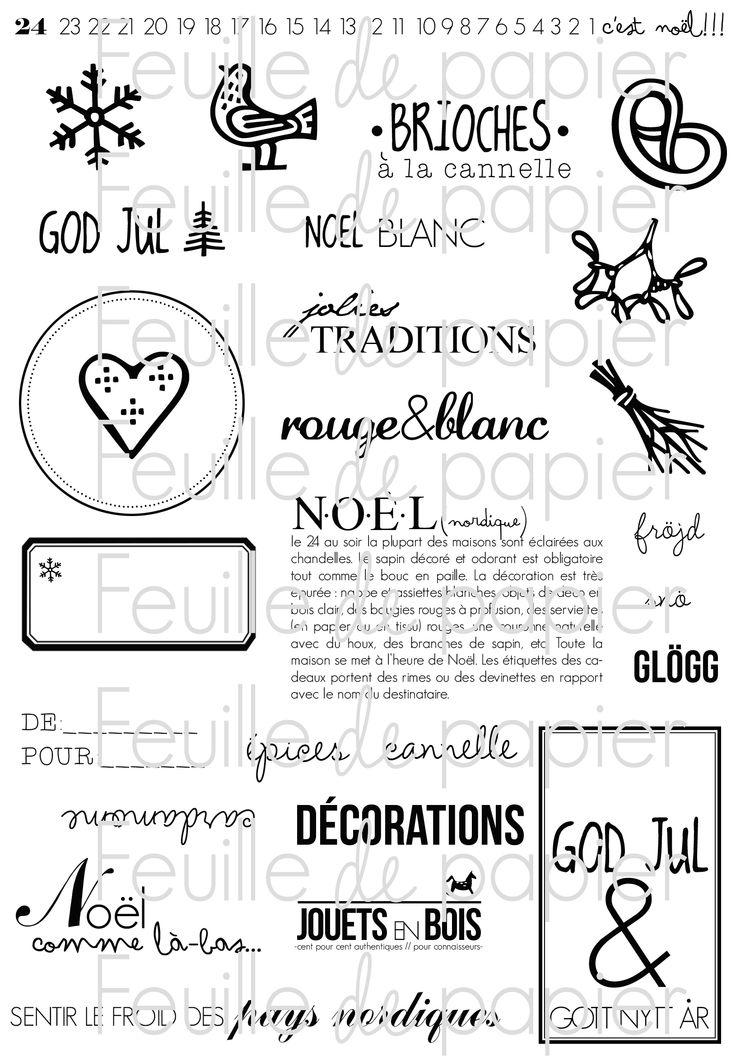 MATERIEL > Tampons > Marie-Laure Bollinger pour Feuille de papier > Collection N° 16 Noël Scandinave PETIT PRIX - Feuille de papier - Kits e...