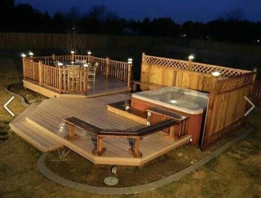 Hot Tub In Backyard Ideas 25 awesome hot tub design ideas Find This Pin And More On Hot Tub Heaven