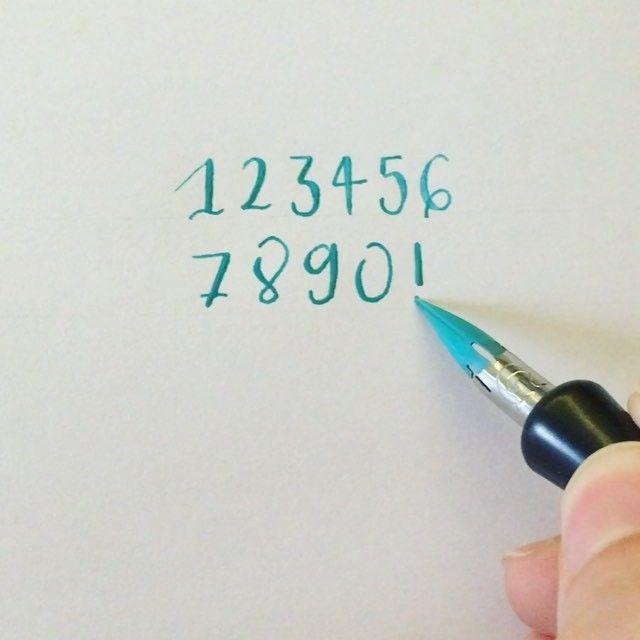 1234567890! #readbetweentheletters #readbetweentheletters_!#calligraphy #caligrafia #! #nueve #nine #speedball #pluma #ink #speedballink #numbers #numeros #numberscalligraphy #caligrafianumeros