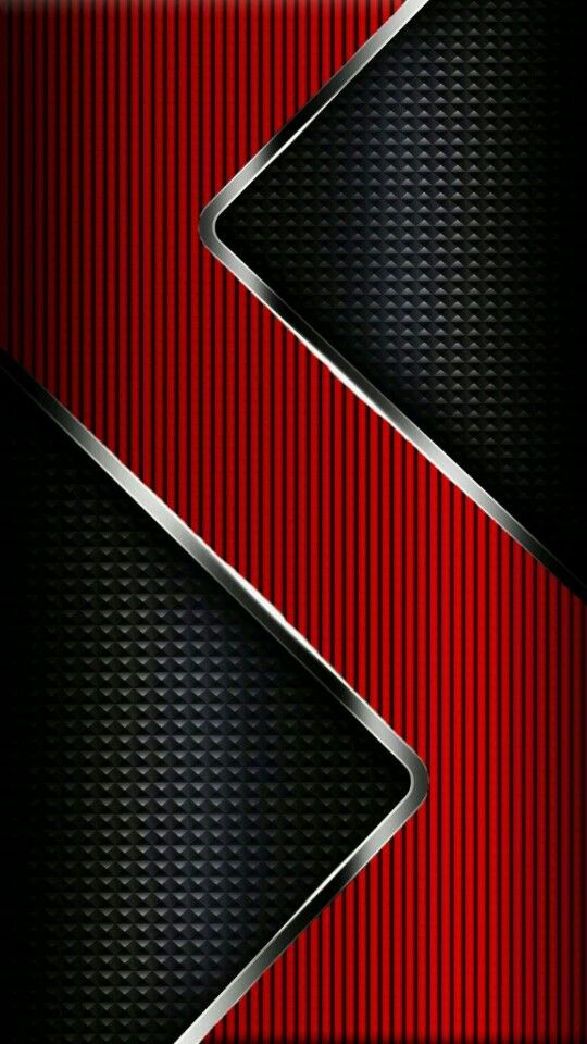 Samsung Galaxy J2 3d Wallpaper Black Red And Chrome Wallpaper Abstract And Geometric