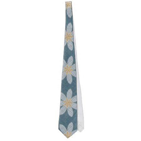 White flower pattern neckties