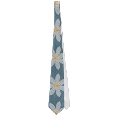 White flower pattern neckties