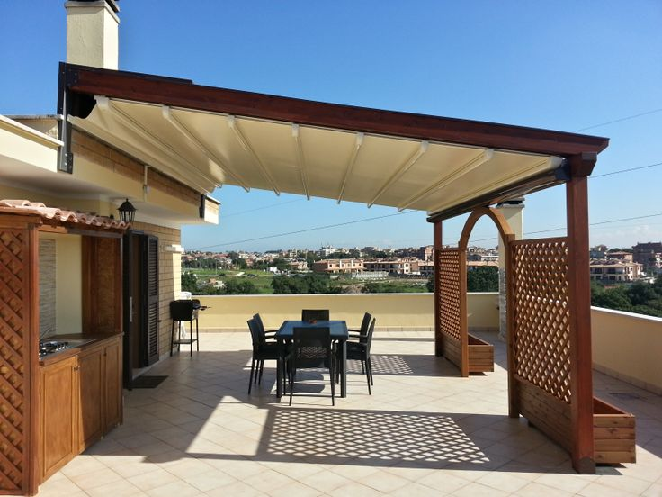 Pergola in legno open house light mille porte tende pinterest open house pergolas and - Gazebo terrazzo vento ...