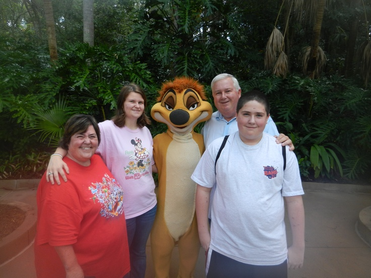 Helen, Victoria, Brian, and Michael with Timon