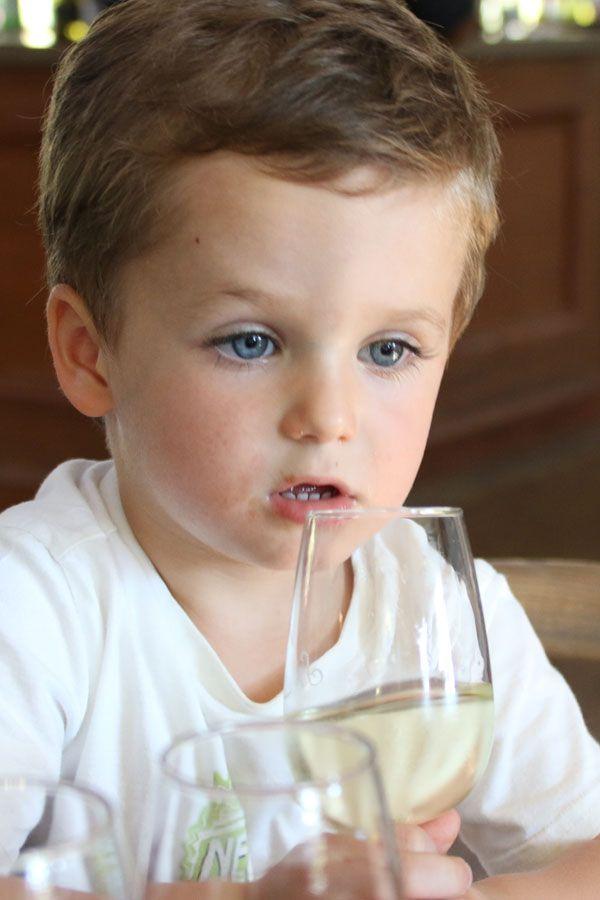 Grape juice tasting for kids at Spier Wine Estate, while mom and dad wine taste :)