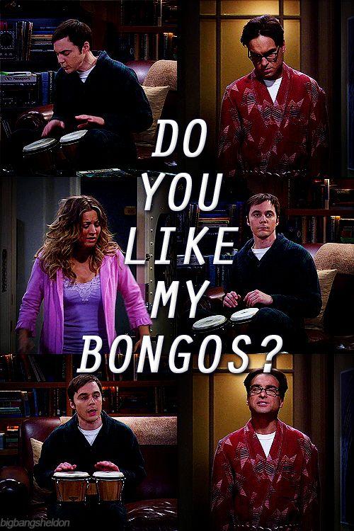 Oh, I loooove Sheldon's bongos. ;)