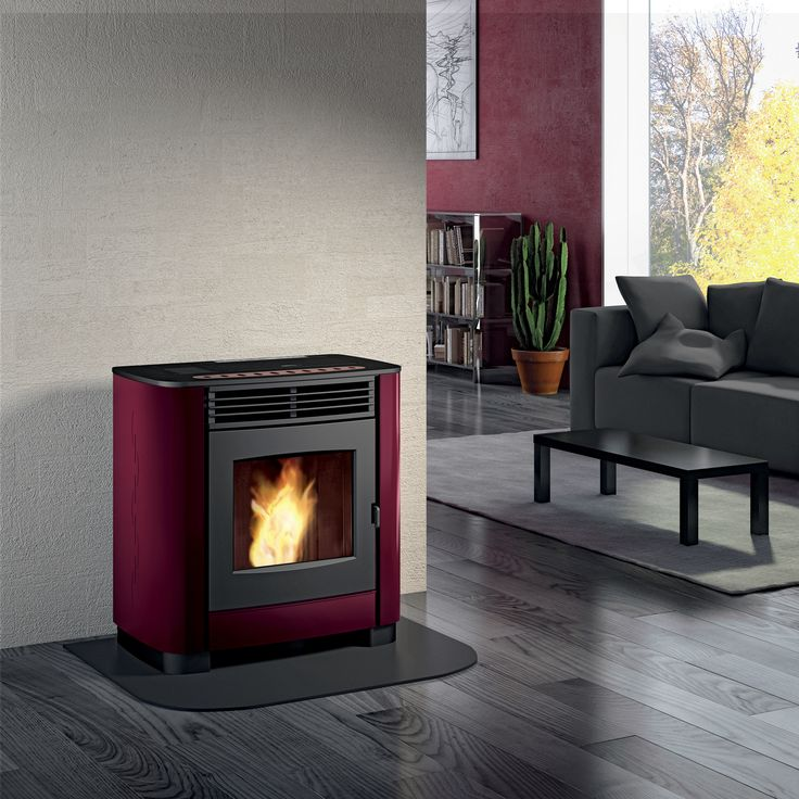 The Gioia Pellet Fireplace. Compact, Automated, Stylish and Eco-Friendly.  www.calore.co.za