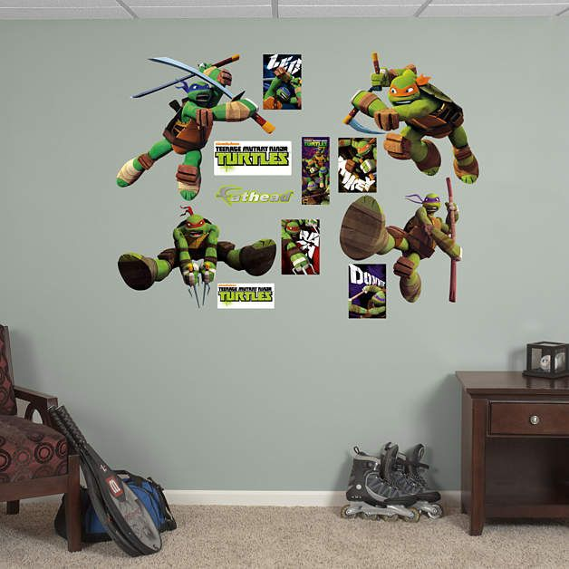 Fathead TMNT Turtle Power Wall Decals   Wall Sticker, Mural, U0026 Decal  Designs At Wall Sticker Outlet