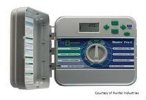 Hunter Sprinkler Repair installs and adjusts all major brands of controllers / timers.