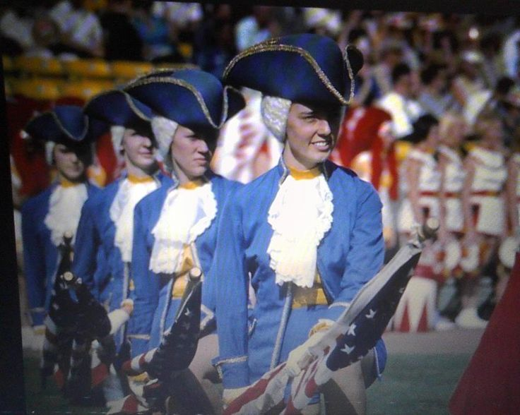 """Screen Cap"" of the Anaheim High Steppers from the halftime show of Super Bowl I, January 1967. My mom was on this Drill Team from 1965-1967. I have always been fascinated with all the distinguished alumni from AHS, including Gerry ""Moon"" Mullins, Charles ""Chic"" Burlingame, Jim Fassel, Bobby Hatfield, and more. — at Los Angeles Memorial Coliseum."