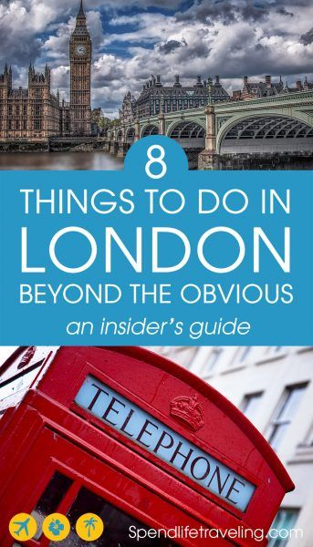 You can find lists of the obvious tourist attractions in #London anywhere, but these are 8 great things to do beyond those attractions. A great travel guide written by a Londoner. Don't miss these tips when you are visiting London! #traveltips #visitLondon #travelguide #citybreak