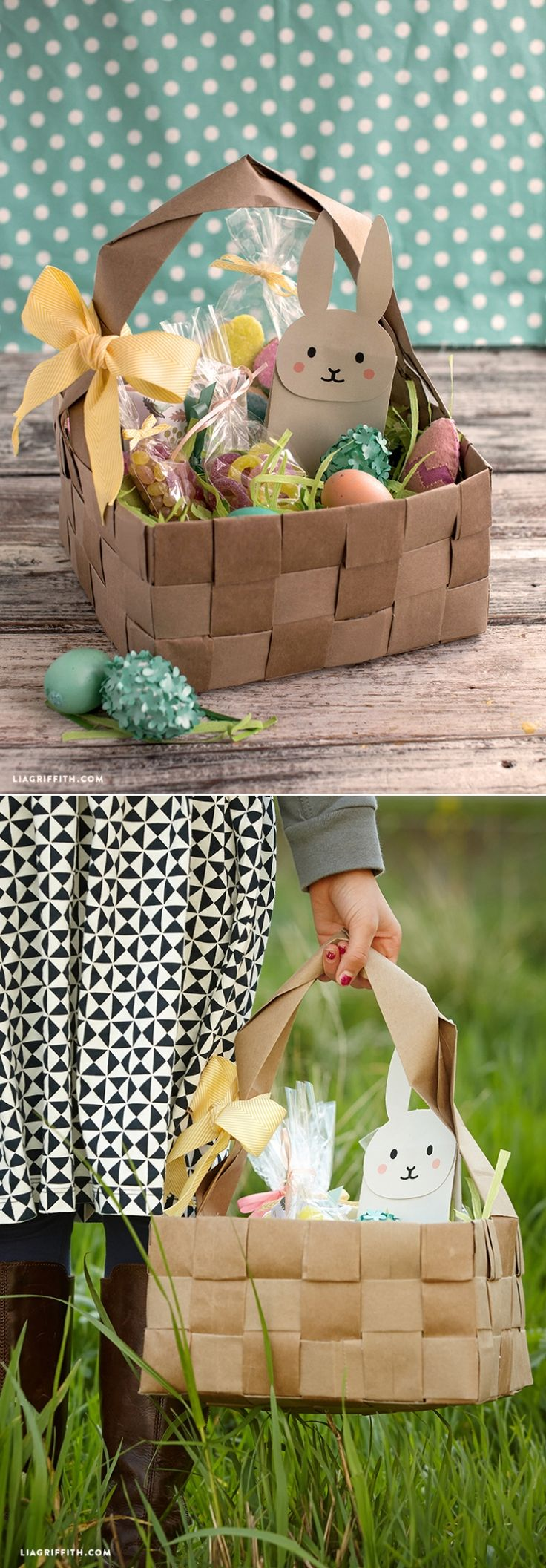 130 best diy easter images on pinterest build your own craft and upcycled large diy easter basket negle