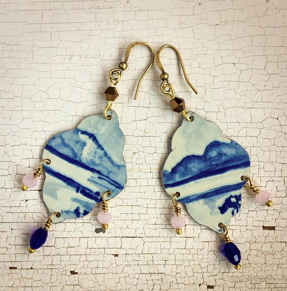 Charming earrings made by FiorDiLatta with our findings and glass beads! Thank you!!!