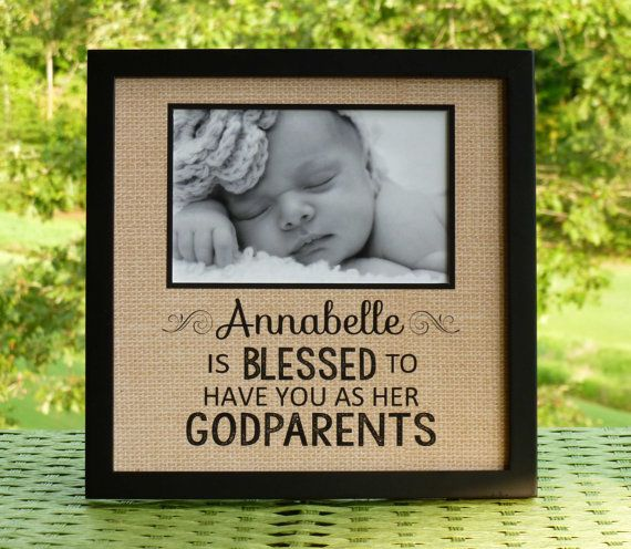 Godparents gift Personalized Baptism gift door abidingwordcreations