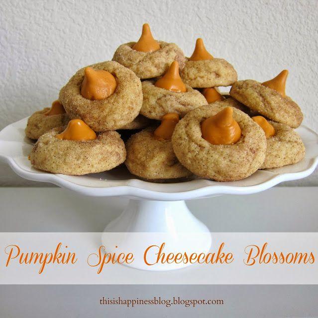 pumpkin spice cheesecake blossoms