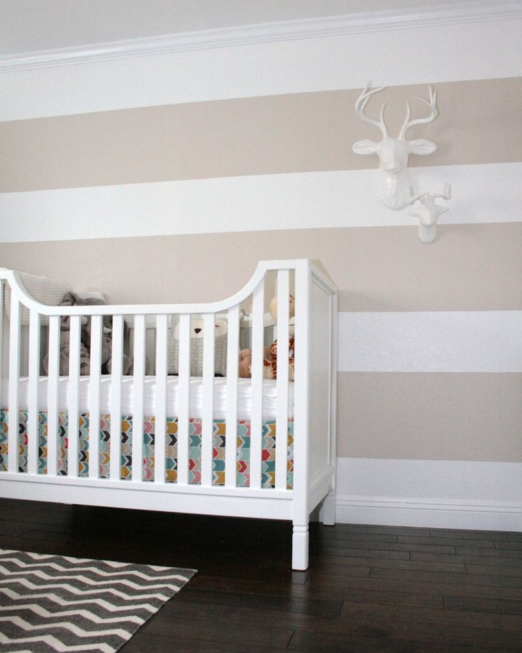 Baby James Nevins S Nest Striped Walls Project Nursery