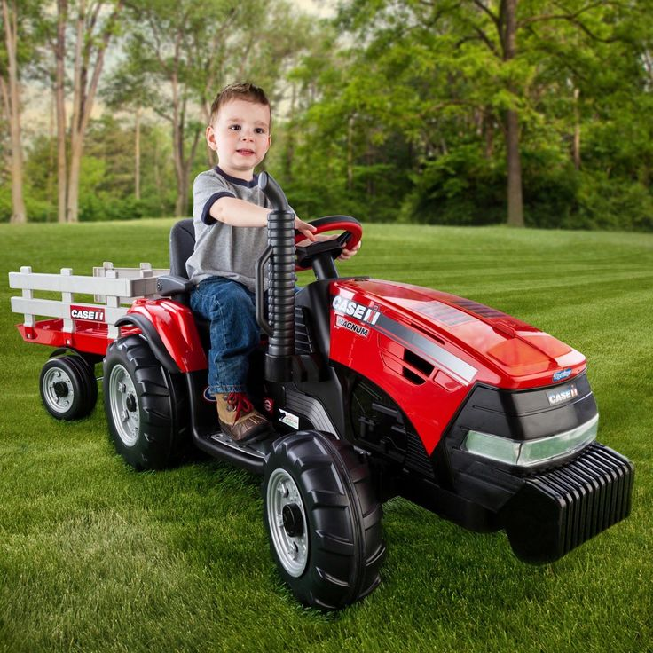 Have to have it. Peg Perego Case IH Magnum Tractor & Trailer Battery Powered Riding Toy - Red - $301.98 @hayneedle