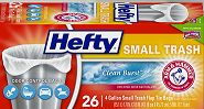 $1 off One Package of NEW Hefty Small (4 gallon) Trash Bags