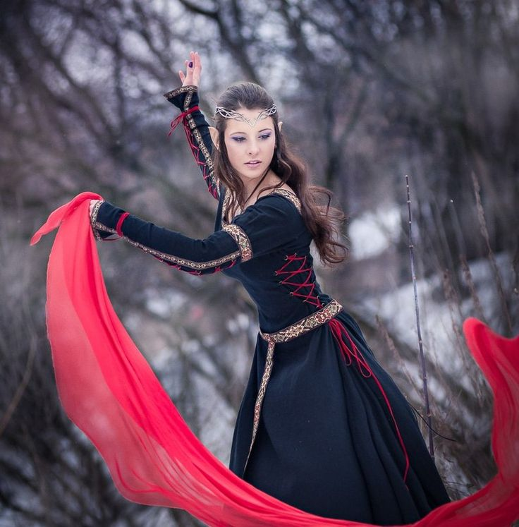 "Mittelalter Kleid ""Jägerin"" aus Baumwolle"