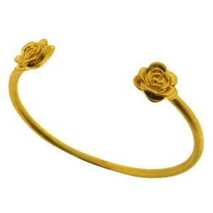 Open Cuff Flower Bracelet, $45, now featured on Fab.
